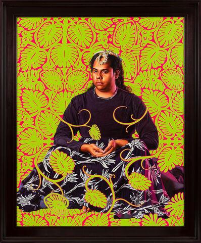 Kehinde Wiley, 'Portrait of Tahiatua Maraetefau II', 2019