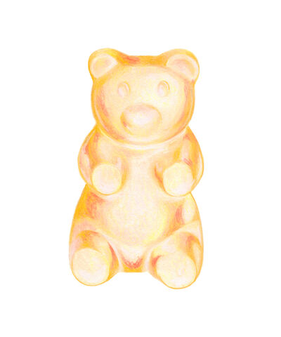 Kendyll Hillegas, 'Gummy Bear Yellow', 2017