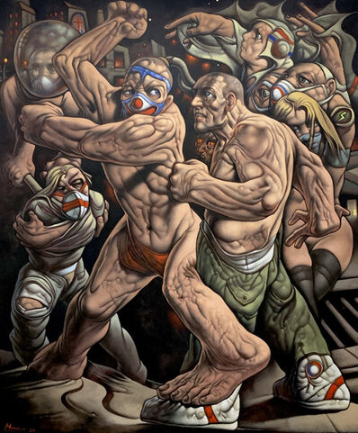 Peter Howson, 'Hoc Opus His Labor Est (This is the Difficulty, This is the Trouble)', 2020