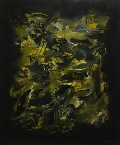 Moisés Moreno, 'Black background', 2019