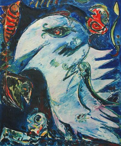 Carl-Henning Pedersen, 'Lys blå fugl', 1976