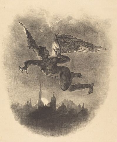 Eugène Delacroix, 'Mephistopheles in the Air', 1828