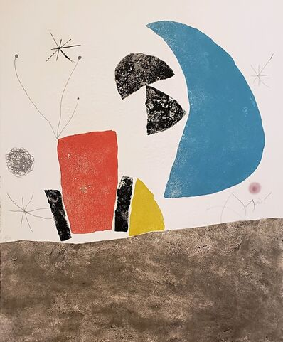 Joan Miró, 'Plate Eight, from Espriu-Miro ', 1975