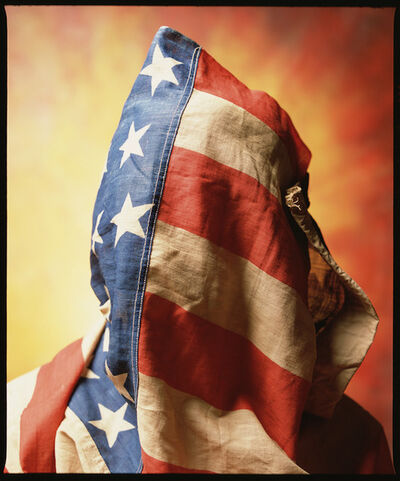"Andres Serrano, '""Flag Face"" Circa 1890 American Flag (Infamous)', 2019"
