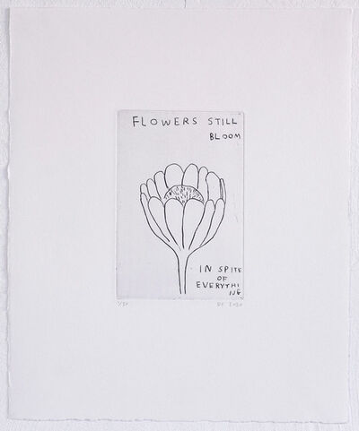 David Shrigley, 'Flowers Still Bloom', 2020
