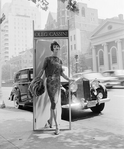 William Helburn, 'Ann St. Marie, Oleg Cassini, Park Avenue at 63rd Street', 1958