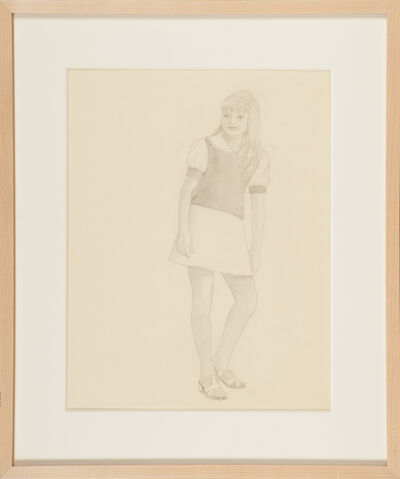 Morton Bartlett, 'Untitled (fashion drawing of young teenager)', ca. 1950