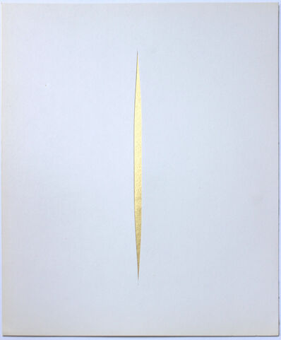 Lucio Fontana, 'Untitled (GOLD Concetto Spaziale)', 1966