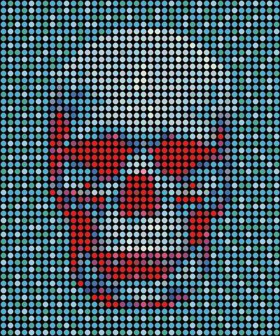 Dimitri Likissas, 'Skull in Blue', 2019