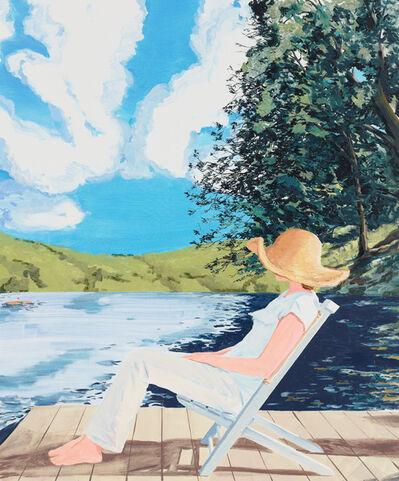 Sebastian Blanck, 'Summer hat on the dock', 2017