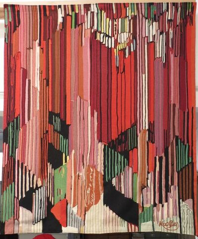 "František Kupka, 'Important abstract tapestry by Kupka after 1911 "" Study for the language of Vertical Lines"" oil on canvas .', ca. 1950"
