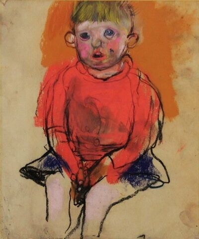Joan Eardley, 'Boy in a red jumper'