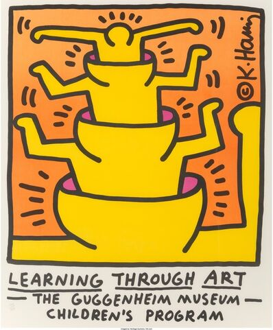 Keith Haring, 'Learning Through Art, The Guggenheim Museum, Children's Program', 1990