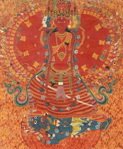 Bhajuman Chitrakar, 'The Cosmic Goddess Bhavani', mid 19th century