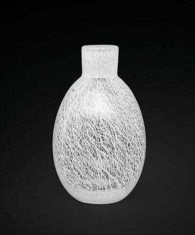 Archimede Seguso, 'A small vase made of merletto lattimo glass', 1952