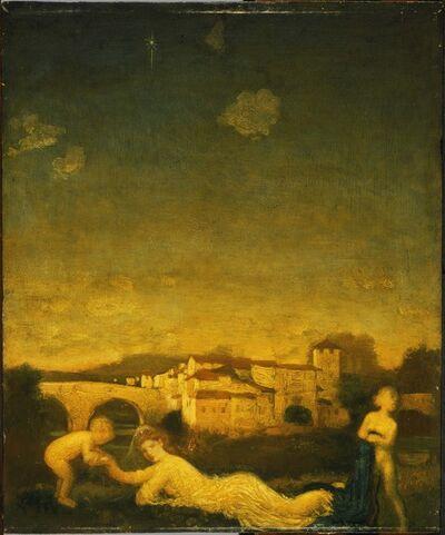 Arthur Bowen Davies, 'Viola Obligato', 1895
