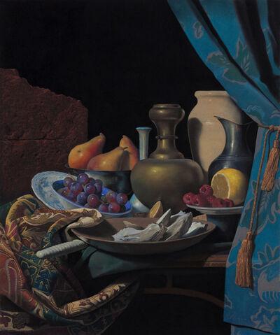 Ron Monsma, 'Arrangement of Shells, Fruits, & Vases'
