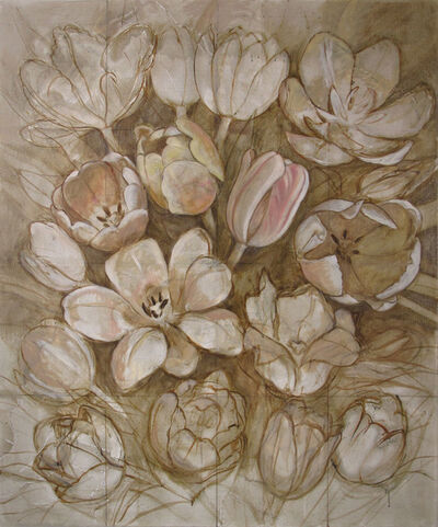 Christina Mosegaard, 'Compositipn with tulips (Sepia tones)', 2015