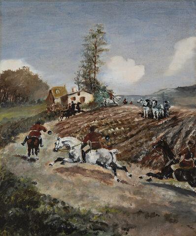 Henri de Toulouse-Lautrec, 'Chasse à courre', ca. 1881