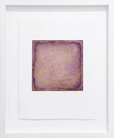 Gotthard Graubner, 'Farbradierung violett-gold', 2007