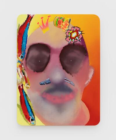 Alessandro Pessoli, 'Neon Anchovy Tomato King', 2020