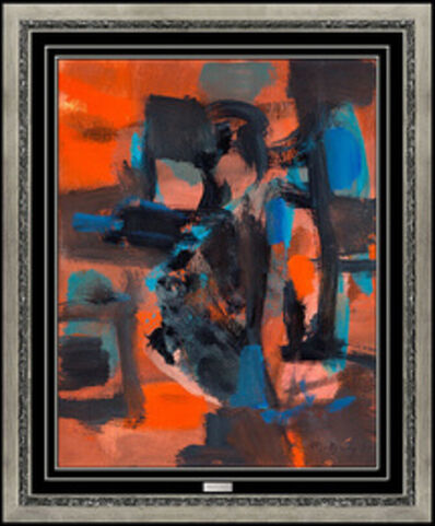 Marcel Mouly, 'Marcel MOULY Original OIL PAINTING on CANVAS Signed Modern Abstract Framed Art', 1963