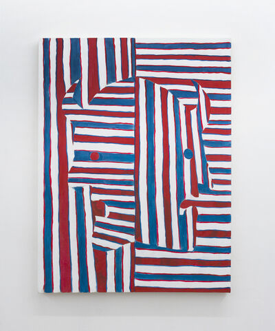 Pablo Carrillo, 'Untitled (Double Demons Red, White And Blue)', 2016
