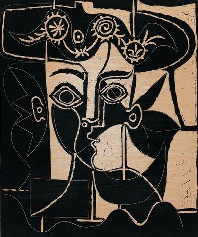 Pablo Picasso, 'Grande Tête de Femme au Chapeau Orné', 1962