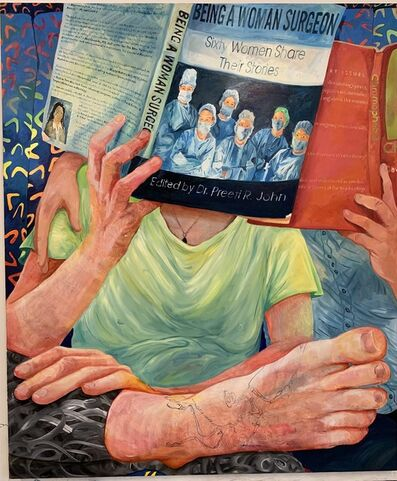 Rebecca Ness, 'Bus Reading', 2019