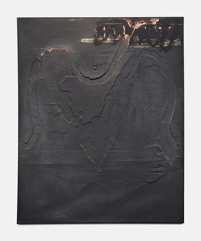 Antoni Tàpies, 'Monochrome Gris au Signe Noir Superieur', 1960
