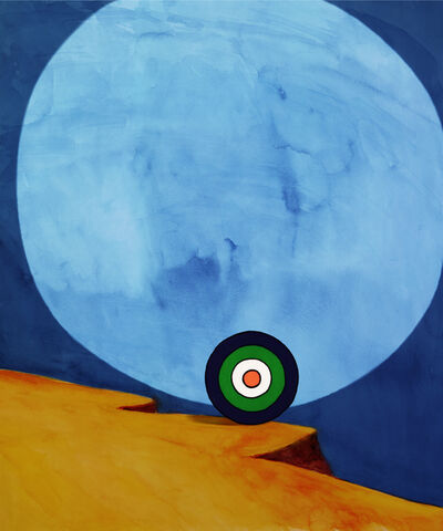 Florian Maier-Aichen, 'Der Spaziergang (Green, White and Blue)', 2011