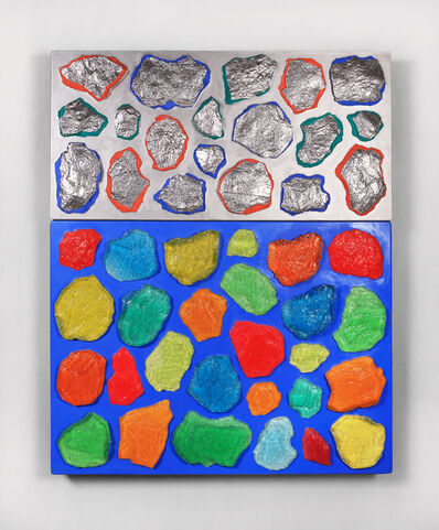 Ashley Bickerton, ' Wall-Wall No. 17 (Ultramarine/Silver)', 2015
