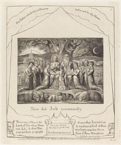 William Blake, 'Job and His Family', 1825