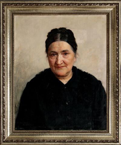 VLAHO BUKOVAC, 'Portrait of Katarina Bibica', 1891