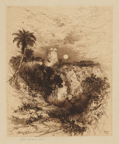 Thomas Moran, 'A Tower of Cortez, Mexico', 1883