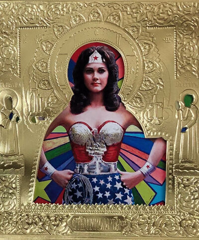 "Valentin Popov, '""St Wonder Woman on Paper""', 2019"
