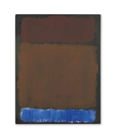 Mark Rothko, 'Wine, Rust, Blue on Black'