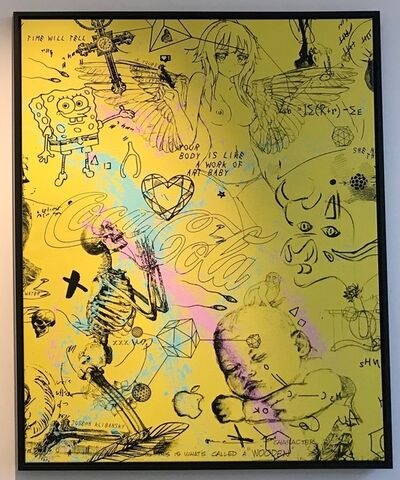 Joseph Klibansky, 'Your body is like a works of art baby (yellow/black, pink and turquoise splash)', 2018