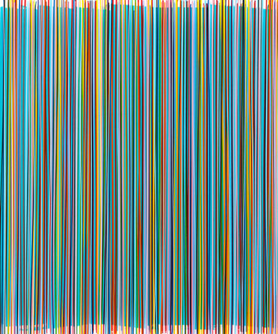 Bradley Harms, 'Ragged Edge (Turquoise irrid.)', 2012
