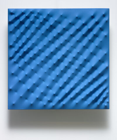 Enrico Castellani, 'Superficie Blu ', 1993