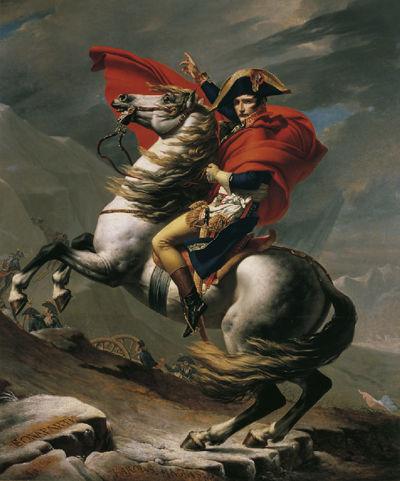 Jacques-Louis David, 'Napoleon at the Great St. Bernard', 1801