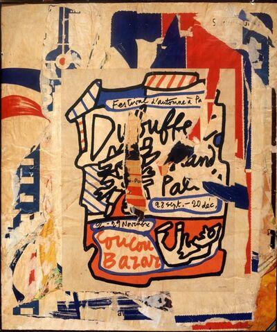 Raymond Hains, 'Hommage à Dubuffet', 1971