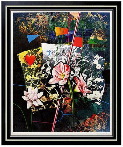 Yankel Ginzburg, 'Original Yankel Ginzburg Signed Silkscreen Artwork USA Glorious Document Pop Art', 20th Century