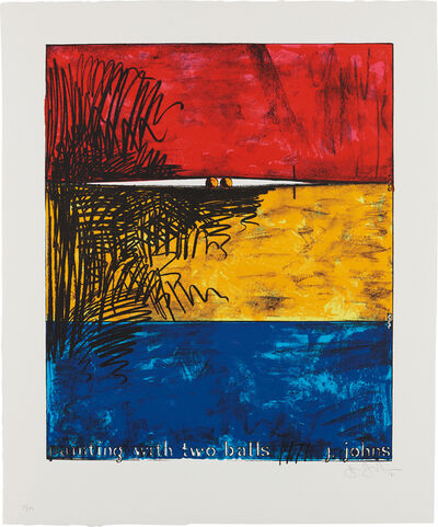 Jasper Johns, 'Painting with Two Balls', 1971