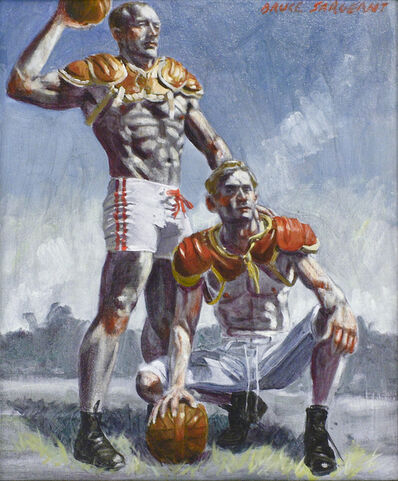 Mark Beard, 'Two Football Players', date unknown