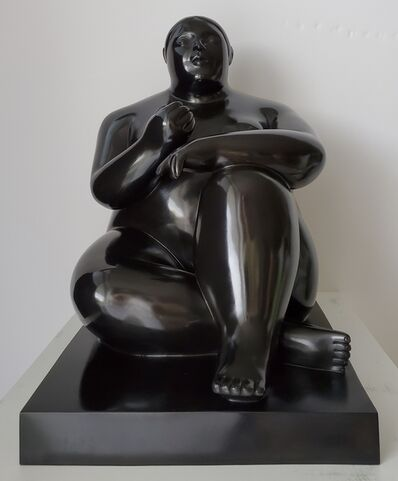 Fernando Botero, 'Donna Seduta con Mela', 2011