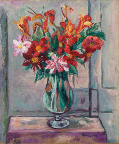 Henri Manguin, 'Bouquet sur une table', 1928