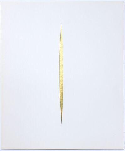 Lucio Fontana, 'Untitled (GOLD Concetto Spaziale)', 1966