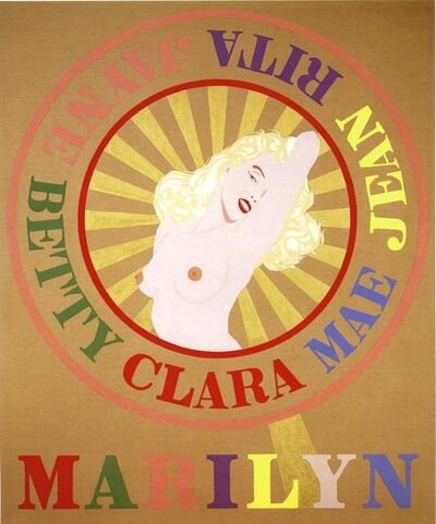 Robert Indiana, 'Sunburst Marilyn (Homage to Marilyn Monroe)', 2001
