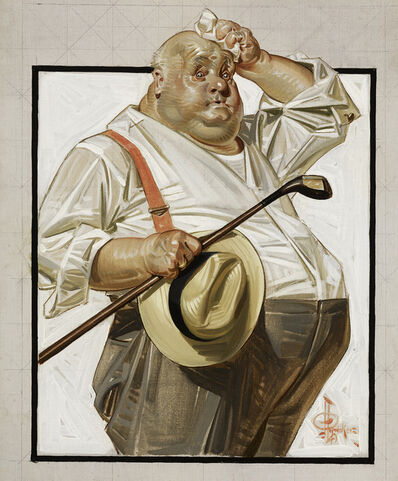 Joseph Christian Leyendecker, 'The Reluctant Golfer', 1916